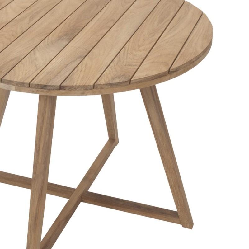 Medina 90cm Round Teak Table