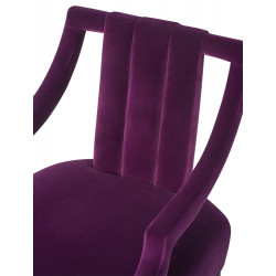 Liang & Eimil Wallace Chair Gainsborough Purple Velvet
