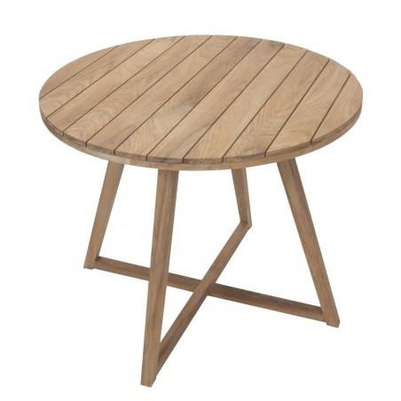 Medina 90cm Round Teak Table