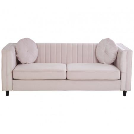 Lagoon Maison Pale Pink Velvet 2 Seater Sofa