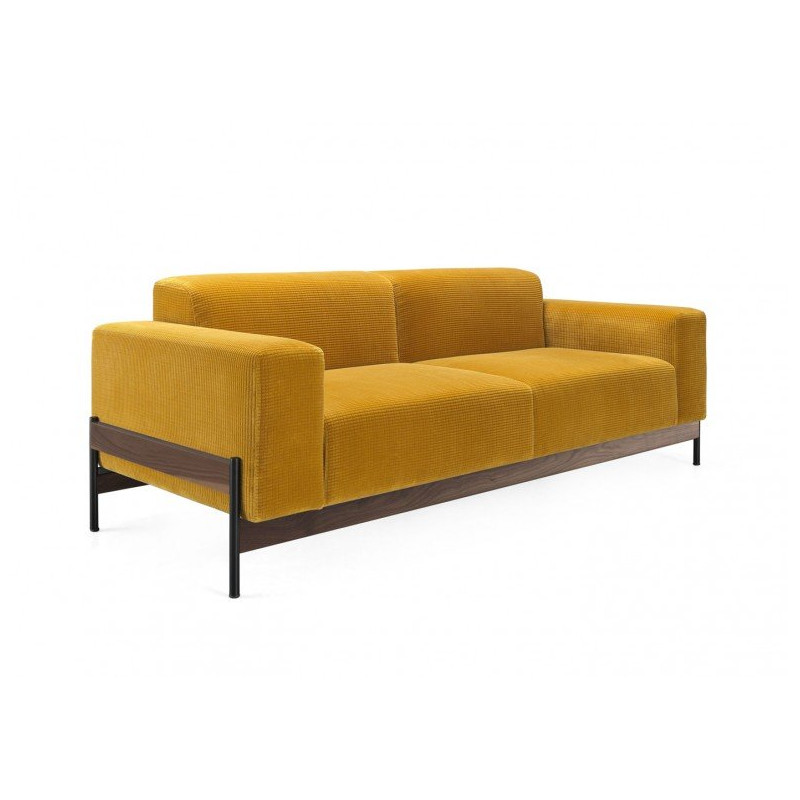 Wewood Bowie 2 Seater Sofa With Walnut Frame