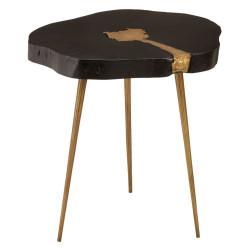 Lagoon Maison Acacia Wood Log Side Table Black