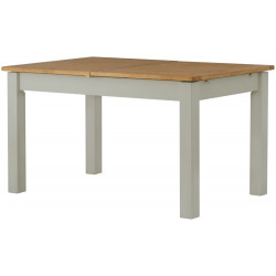 Farmhouse Extending Dining Table Oak Top Stone Legs 180 CM