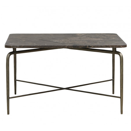 House Doctor Square Coffee Table in Brown Marble