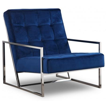 Liang & Eimil Nova Occasional Chair Kaster Marine Blue Velvet