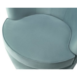 Liang & Eimil Kiss Occasional Chair in Deep Turquoise Velvet Fabric.