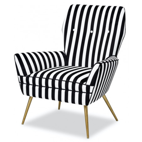 Liang & Eimil Paris Chair Black & White Velvet