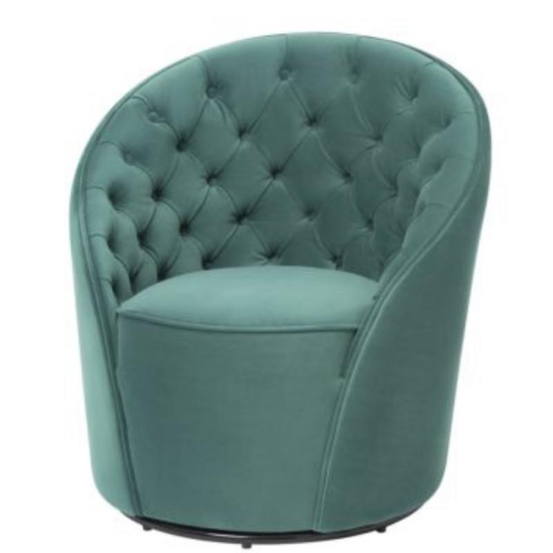 Chelsea Chair Kaster Lincoln Green Velvet