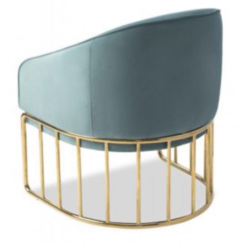 Liang & Eimil Boston Occasional Chair Velvet Turquoise Fabric