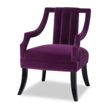 Liang & Eimil Wallace Chair Gainsborough Purple Velvet