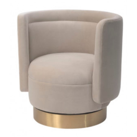 Liang & Eimil Studio 21 Chair Kaster Pebble Velvet