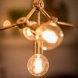 FUSION PENDANT LIGHT - ANTIQUE BRASS FINISH