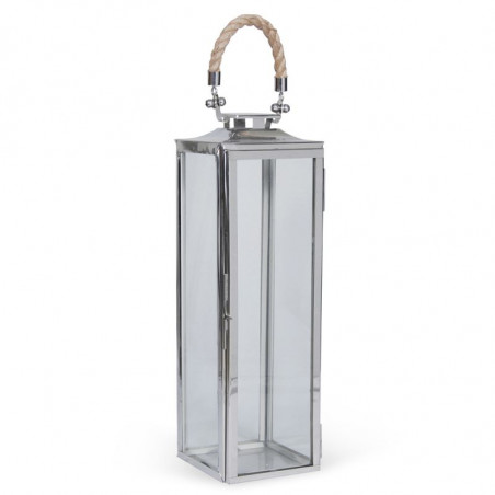 STAINLESS STEEL SMALL TALL LA ROCHELLE LANTERN