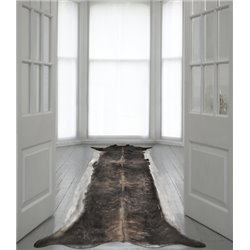 Super Long Stretched Cowhide Rug Natural Large
