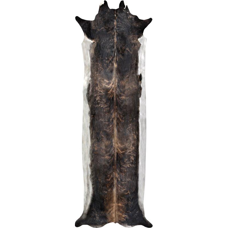 Super Long Stretched Cowhide Rug Natural Medium