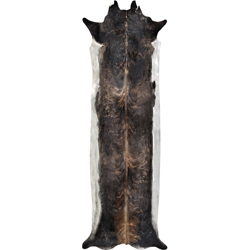 Super Long Stretched Cowhide Rug Natural Medium