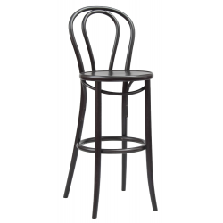 Ton Bar Stool 18 in Stained Bent Wood