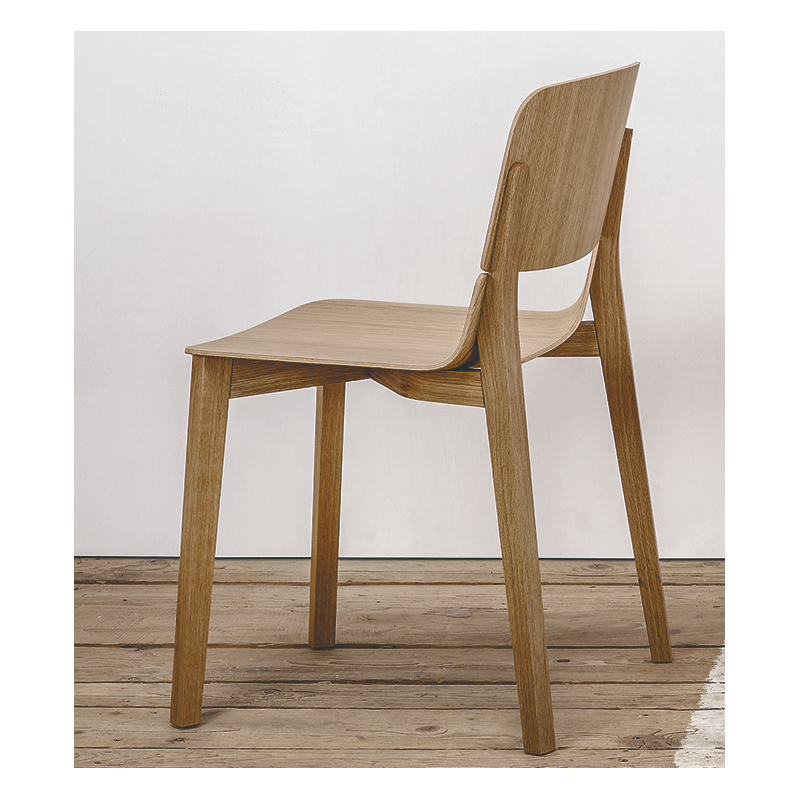Ton Leaf Dining Chair Stained Beech