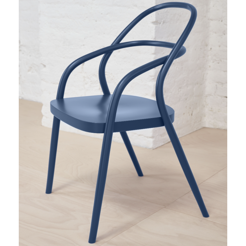 Ton Dining Chair 002 in Bent Beech Wood Pigment