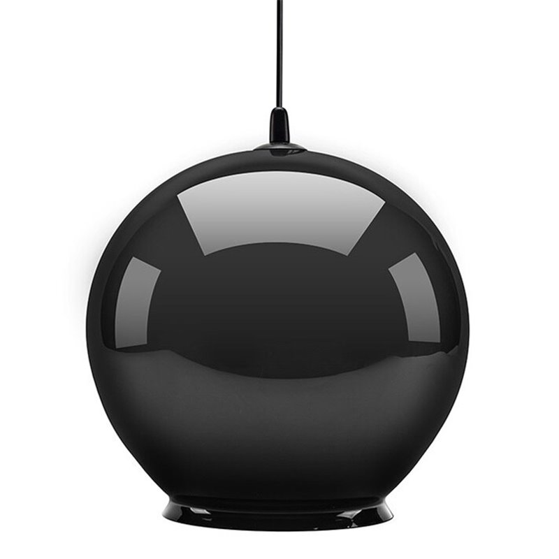 Cauldron Pendant Lamp - Gloss Black