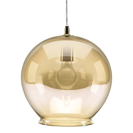 Cauldron Pendant Lamp - Amber Tint