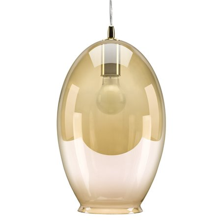 Vase Pendant Lamp - Amber Tint