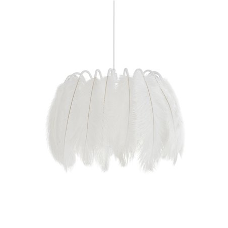 All White Feather Pendant Lamp
