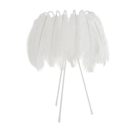 All White Feather Table Lamp