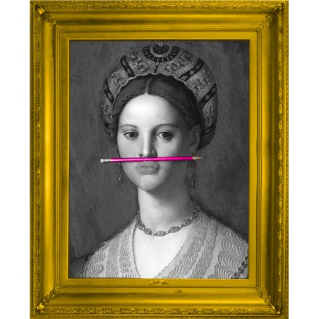 The Pink Pencil Canvas Small