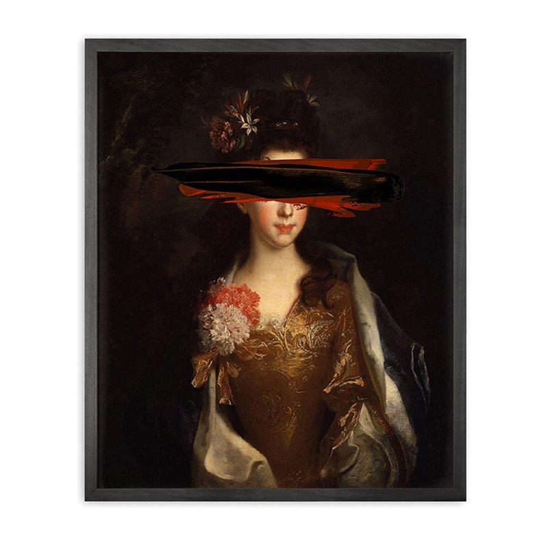 Black mark Framed Printed Canvas