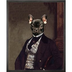 Portrait of French bulldog Canvas