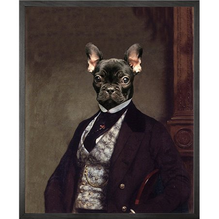 Portrait of French bulldog Canvas