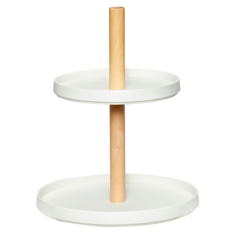 Hubsch Cake and Fruit Serving Etagere with 2 Plates