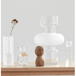 Hubsch Vase Clear Frosted Glass