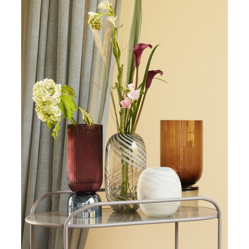 Hubsch Vase Pink Blue Glass