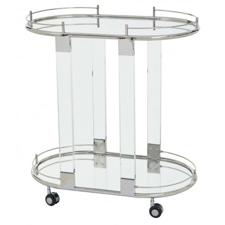 Drinks Trolley In Stainless Steel Frame