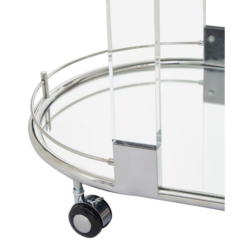 Drinks Trolley In Stainless Steel Frame