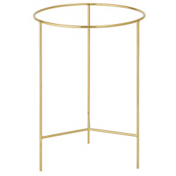 Bloomingville Sola Tray Table Brown Gold Finish Aluminium