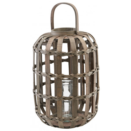 House Doctor Knots Lantern Dark Brown
