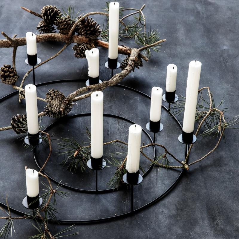 House Doctor Ring Candle Stand Black