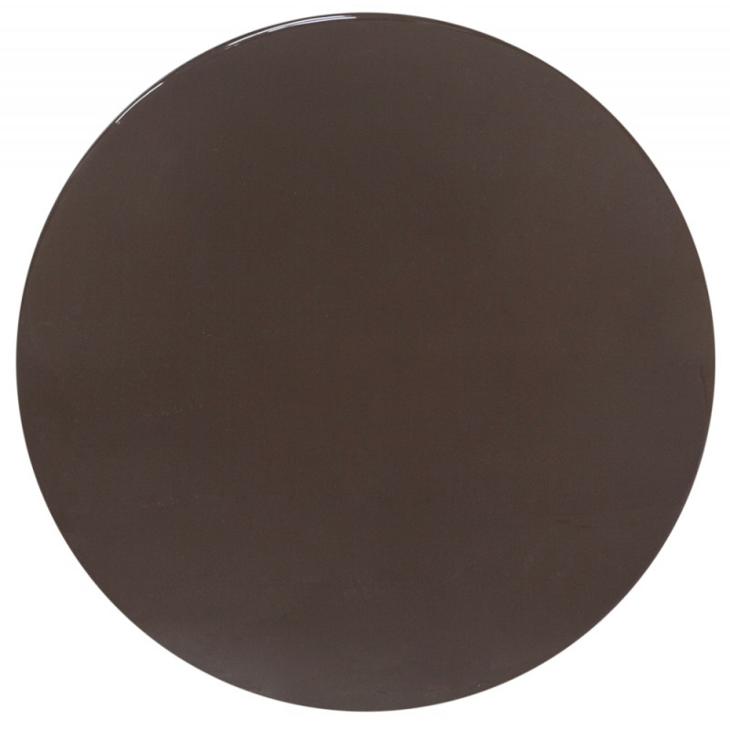 Dome Deco Side Table Enamel Top Brass Base H: 49 CM