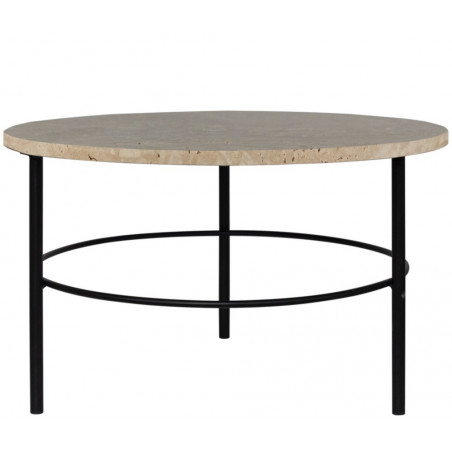 Dome Deco Montreux Round Coffee Table Tavertine Marble Top