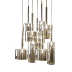 Dome Deco Glass Pendant Lamp with 9 Glass Shades