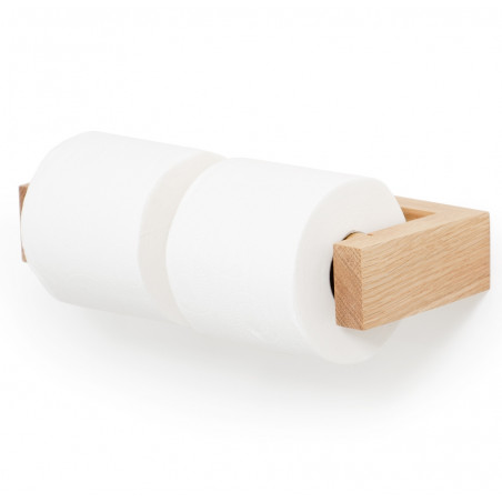 Wireworks Double Toilet Wall Roll Holder - Bamboo