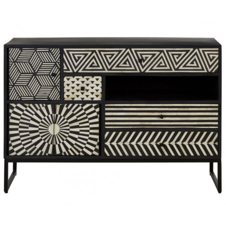 Lagoon Collection Boho Monochrome Cabinet