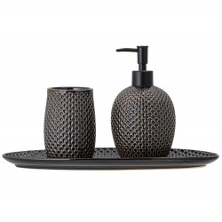 Bloomingville Stoneware Soap Dispenser Set Grey