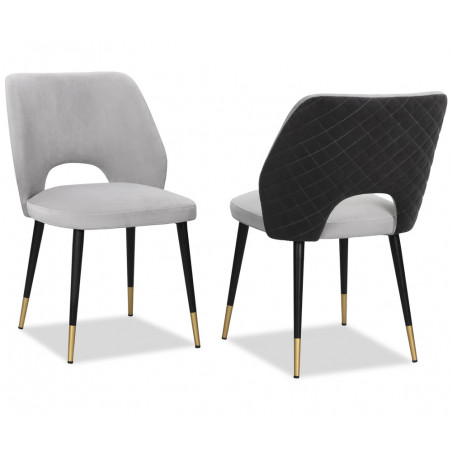 Liang & Eimil Jagger Dining Chair Kaster light grey & Slate Velvet