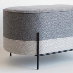 Hubsch Pouf/Foot stool with Black Legs