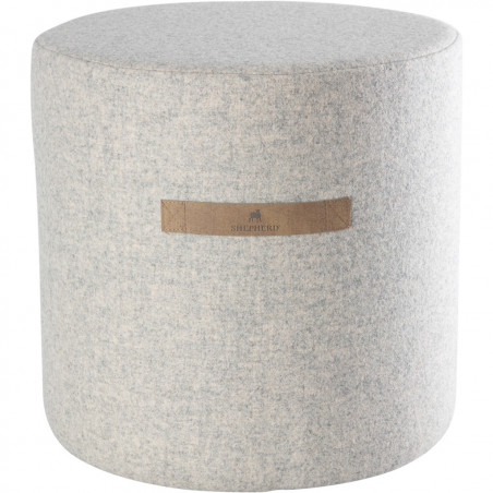 Shepherd of Sweden Sara Wool Pouf Creme| 40 x 40 cm