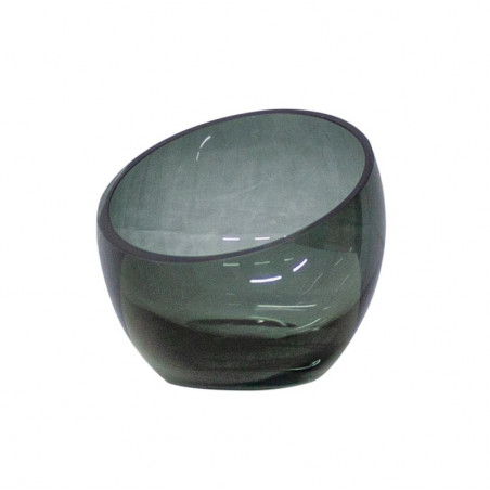 Dome Deco Tea Light Holder Grey Glass | Small